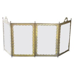 19th Century French Napoleon III Fireplace Screen or Fire Screen