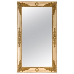 19th Century French Napoleon III Gesso Mirror with Mercury Glass