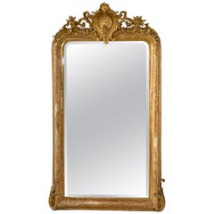 19th Century French Napoleon III Gilded Mirror