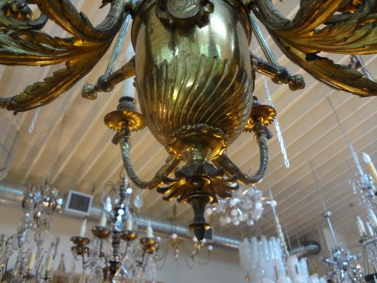 19th Century French Napoleon III Gilt Bronze Chandelier For Sale 2
