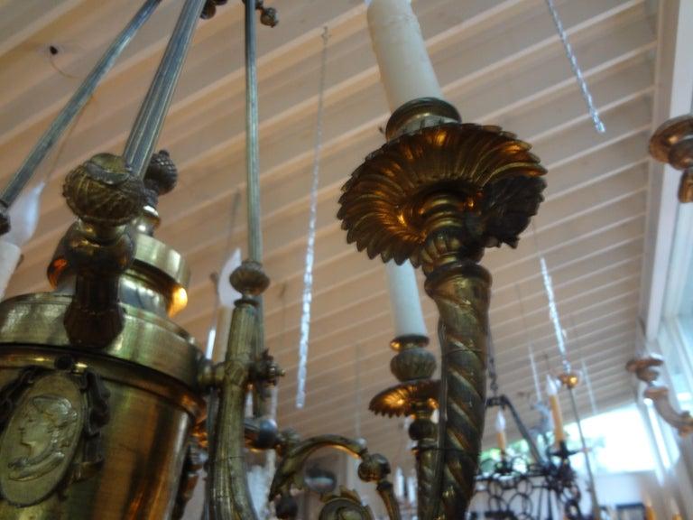 19th Century French Napoleon III Gilt Bronze Chandelier For Sale 5