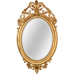 19th Century French Napoleon III Giltwood Mirror