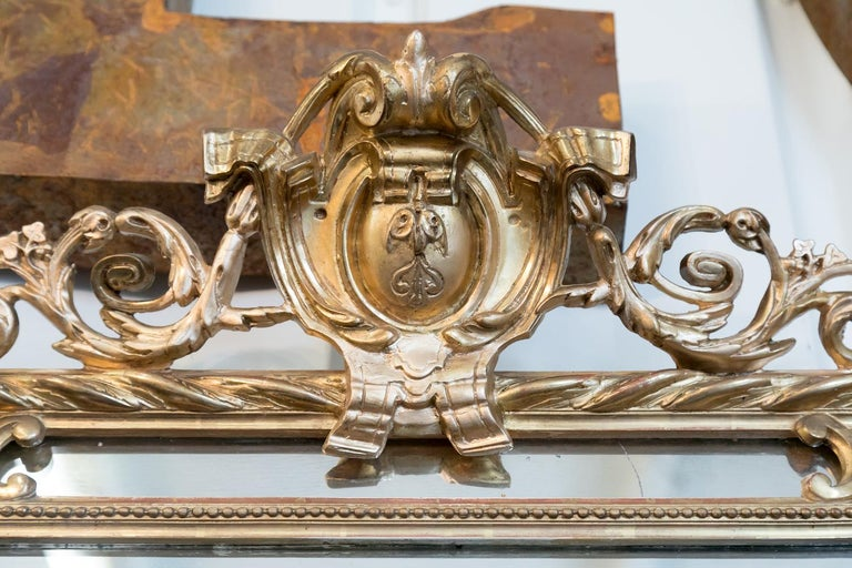19th Century French Napoleon III Giltwood Pareclose Mirror For Sale 2