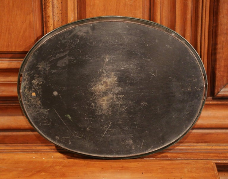 19th Century French Napoleon III Hand Painted Tole Tray For Sale 3