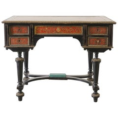 19th Century French Napoleon III in Boulle Marquetry Writing Table