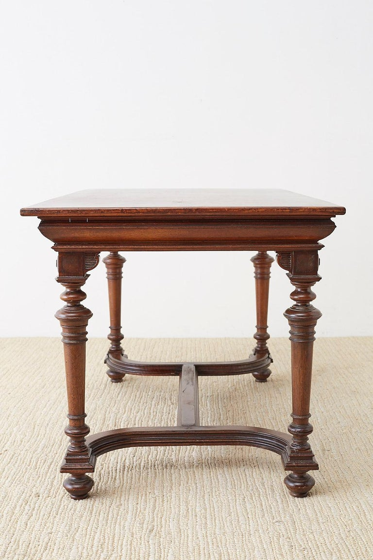 19th Century French Napoleon III Library or Writing Table For Sale 10