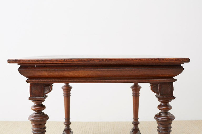 19th Century French Napoleon III Library or Writing Table For Sale 12