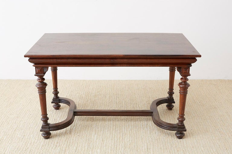 19th Century French Napoleon III Library or Writing Table For Sale 14