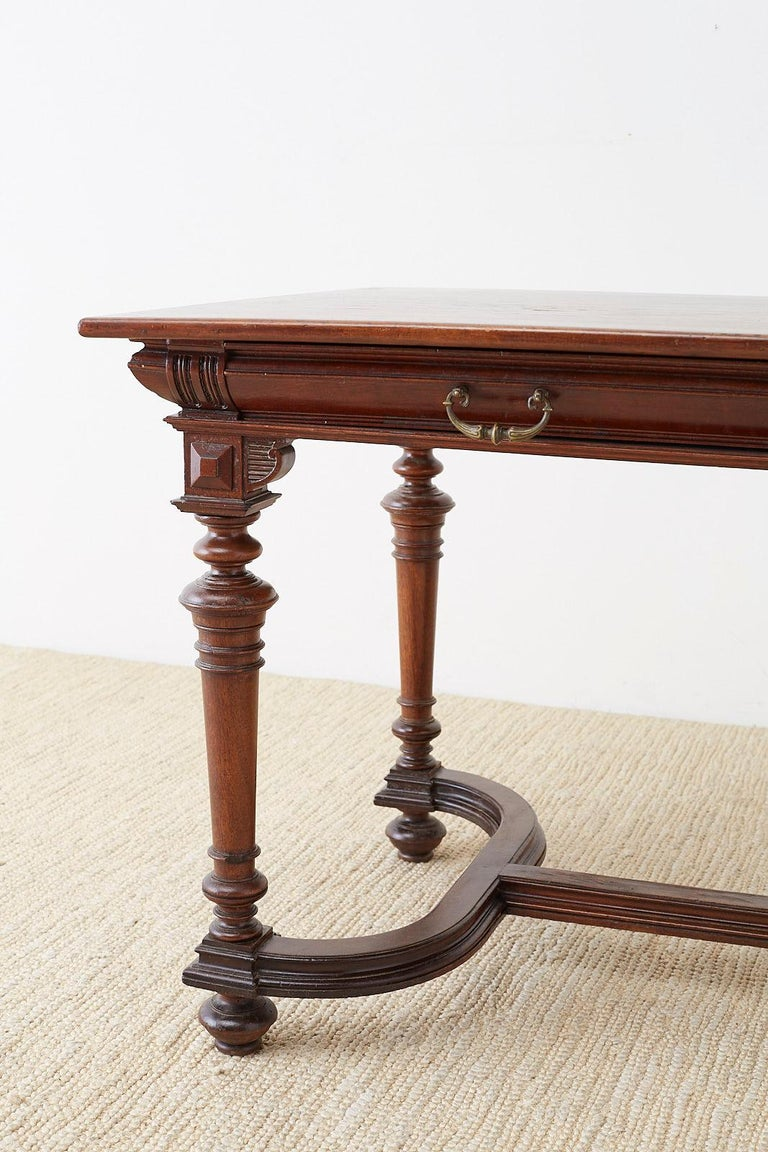 19th Century French Napoleon III Library or Writing Table For Sale 1