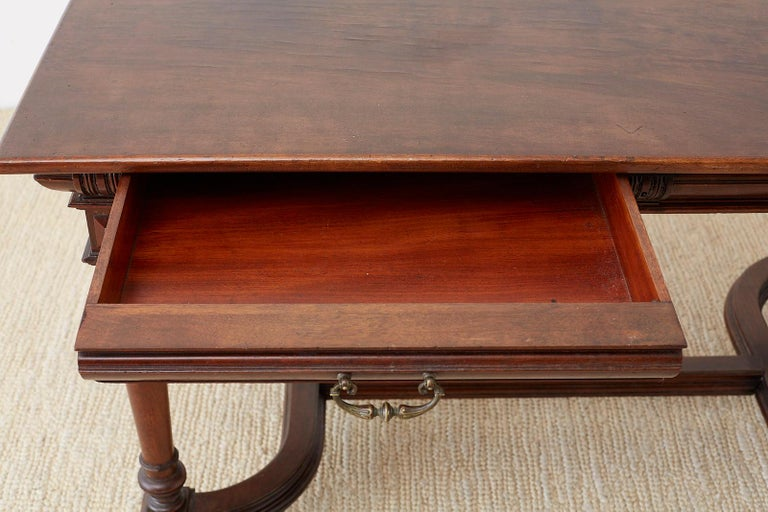19th Century French Napoleon III Library or Writing Table For Sale 3
