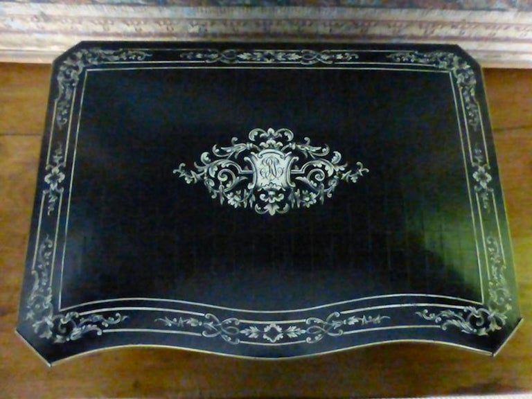 Mid-19th Century 19th Century French Napoleon III Marquetry and Ivory Cigar Humidor For Sale
