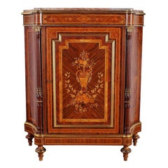 19th Century French Napoleon III Marquetry Cabinet
