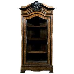 19th Century French Napoleon III Period Display Armoire, Bookcase