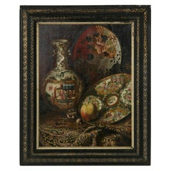 19th Century French Napoleon III Period Framed Orientalist Still Life Painting