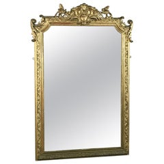 19th Century French Napoleon III Period Gilded Mirror