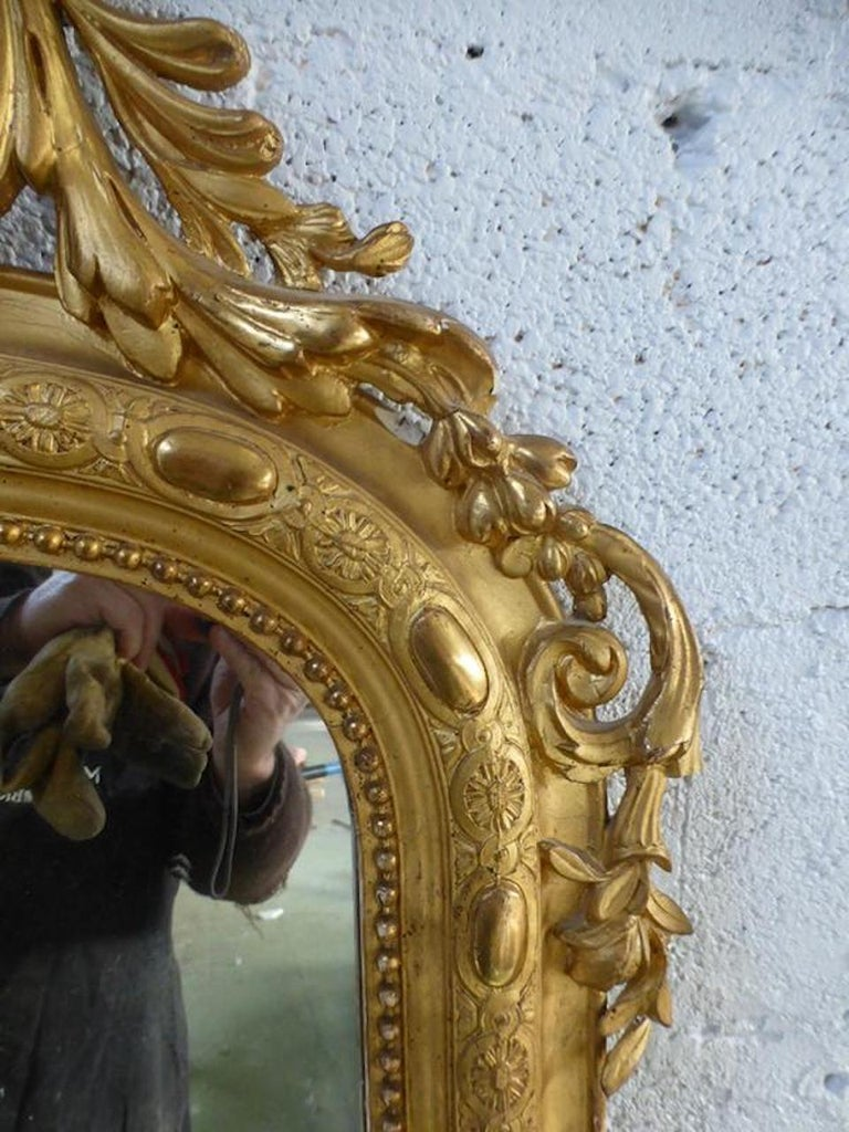 19th Century French Napoleon III Period Mirror In Good Condition For Sale In LEGNY, FR
