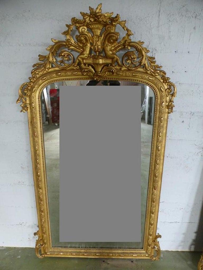 19th Century French Napoleon III Period Mirror For Sale 1