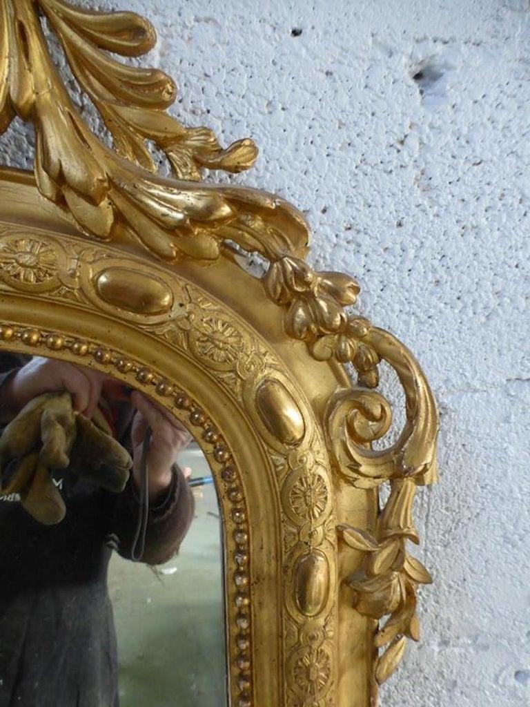 19th Century French Napoleon III Period Mirror For Sale 2
