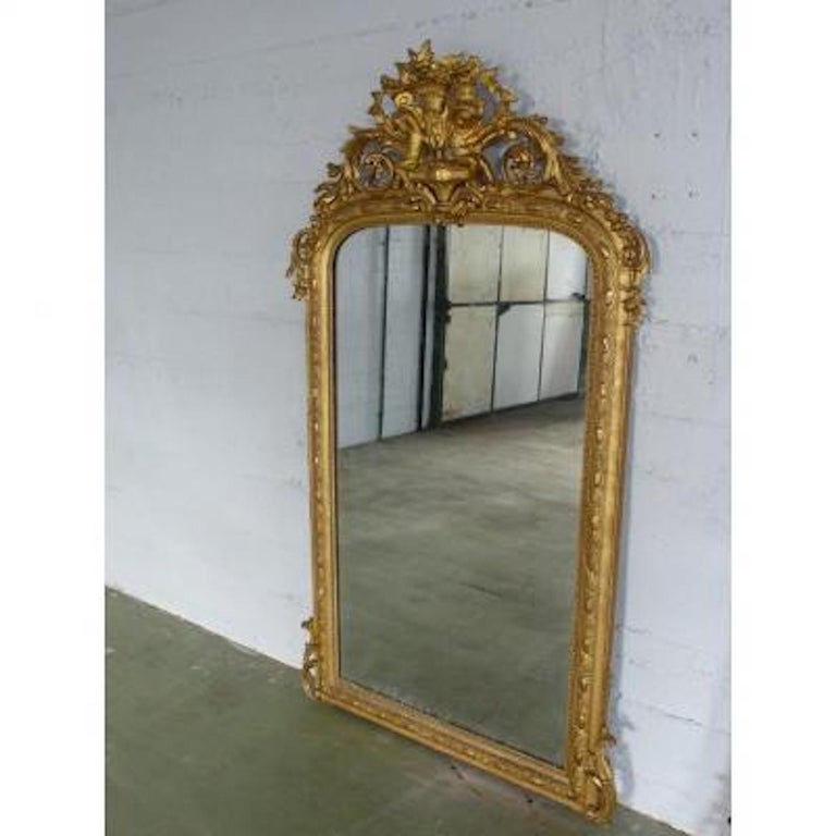 19th Century French Napoleon III Period Mirror For Sale 3