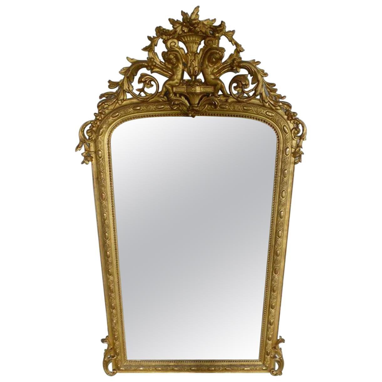 19th Century French Napoleon III Period Mirror
