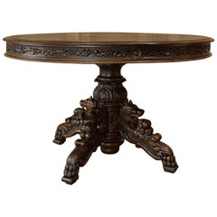 19th Century French Napoleon III Period Oval Center Table