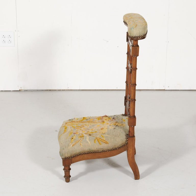 19th Century French Napoleon III Period Prie Dieu or Prayer Chair For Sale 5
