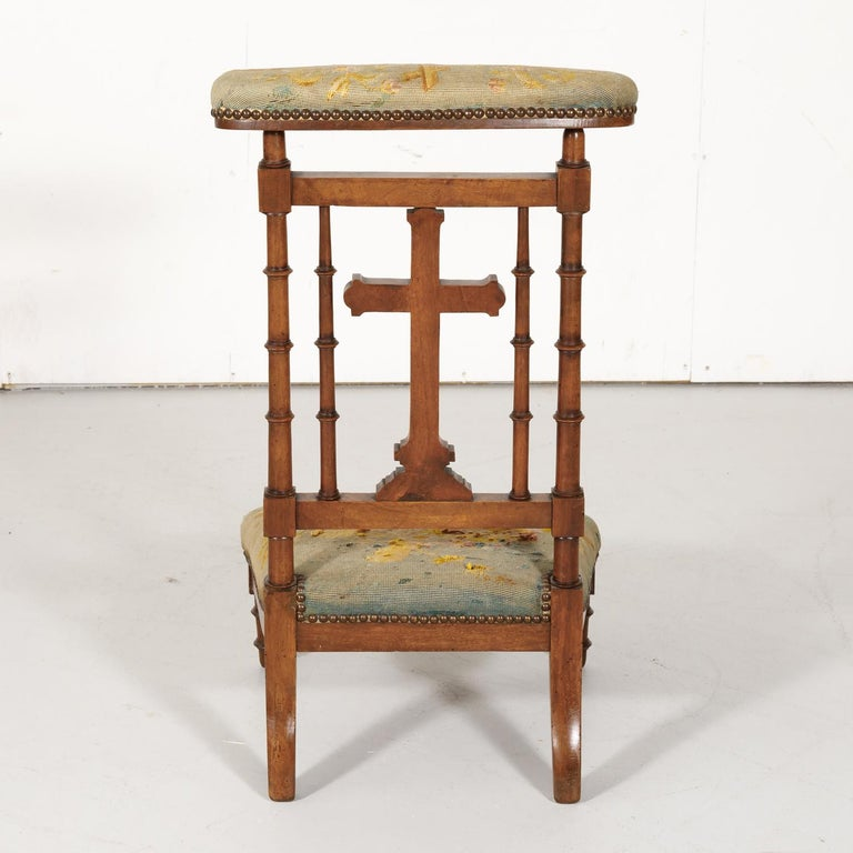 19th Century French Napoleon III Period Prie Dieu or Prayer Chair For Sale 7