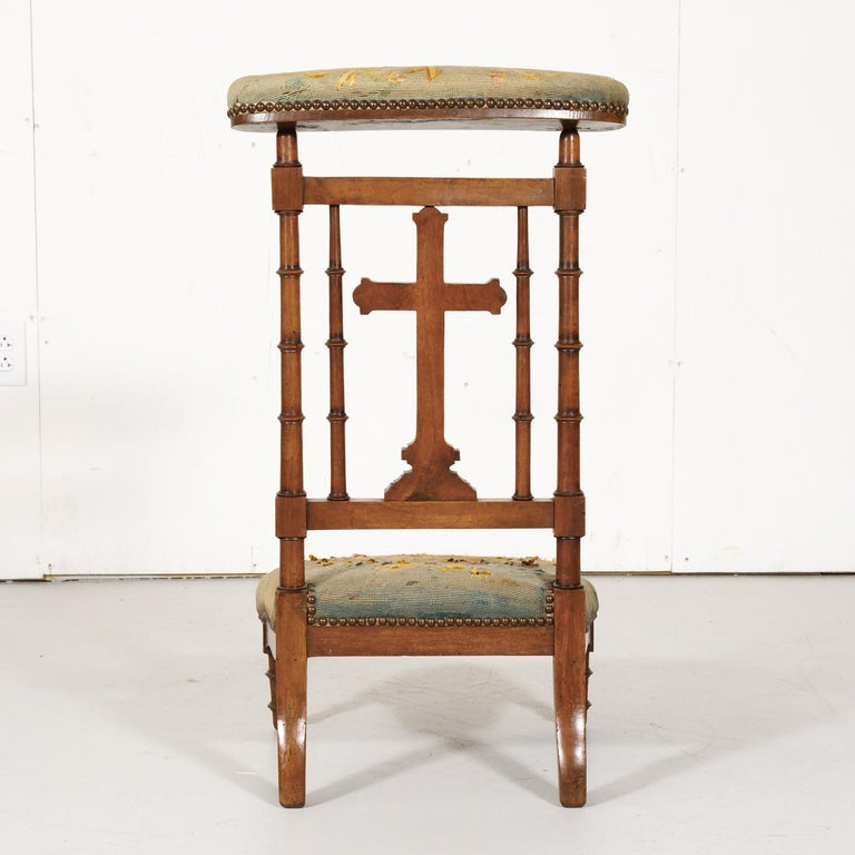 19th Century French Napoleon III Period Prie Dieu or Prayer Chair For Sale 8