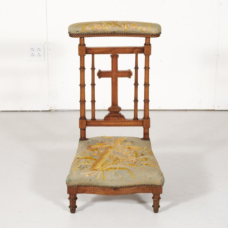 19th Century French Napoleon III Period Prie Dieu or Prayer Chair In Good Condition For Sale In Birmingham, AL