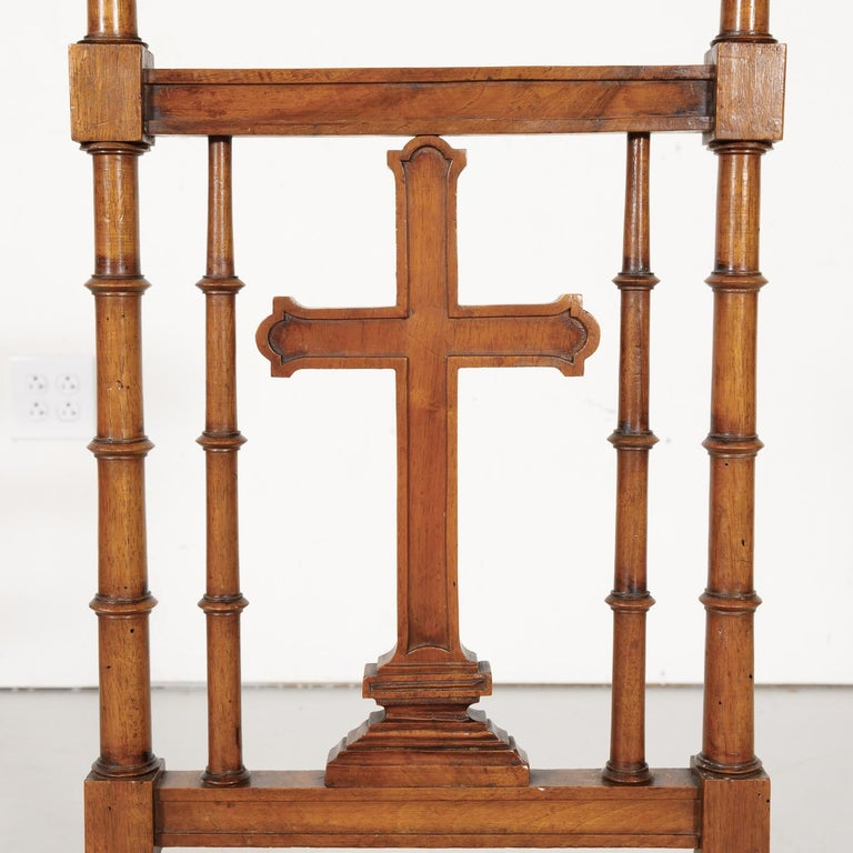 19th Century French Napoleon III Period Prie Dieu or Prayer Chair For Sale 2
