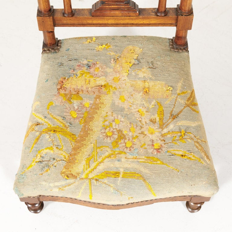 19th Century French Napoleon III Period Prie Dieu or Prayer Chair For Sale 3