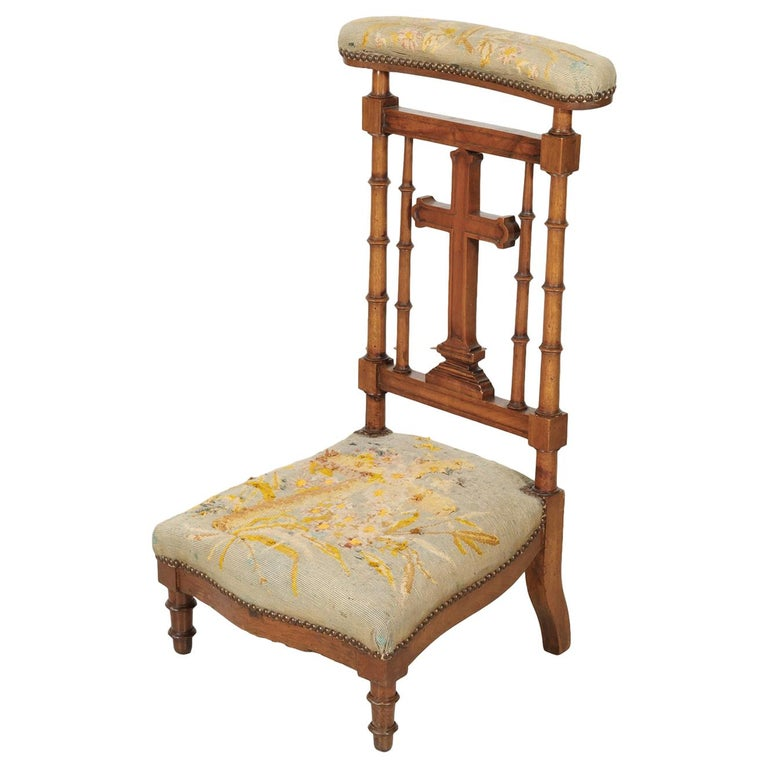 19th Century French Napoleon III Period Prie Dieu or Prayer Chair For Sale