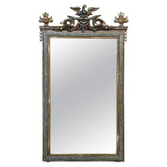 19th Century French Napoleon III Period Silver and Gold Mirror