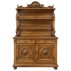 19th Century French Napoleon III Period Walnut Vaisselier, Buffet