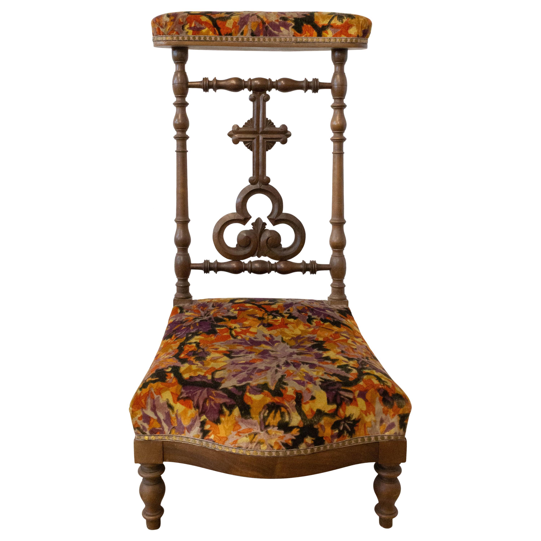 19th Century French Napoleon III Prie Dieu or Prayer Chair, Mahogany