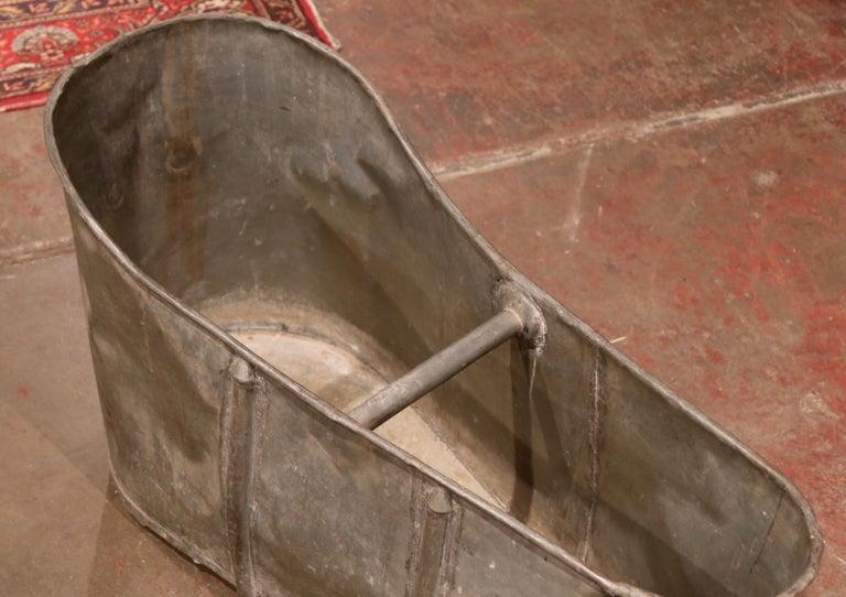 19th Century French Napoleon IIII Patinated Zinc Bath Tub For Sale 1