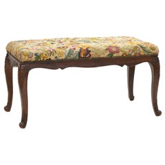 19th Century French Needlepoint Tapestry Bench