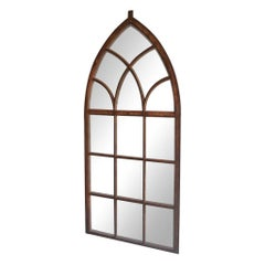 19th Century French Neo-Gothic Metal Etange Wall Mirror