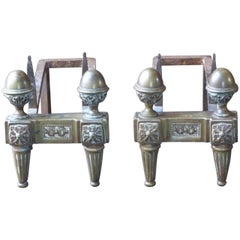 19th Century French Neoclassical Andirons or Firedogs