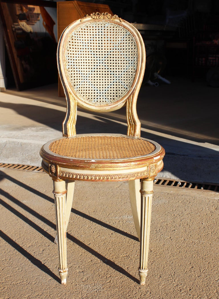 19th Century French Neoclassical Cane Back Chair For Sale 6