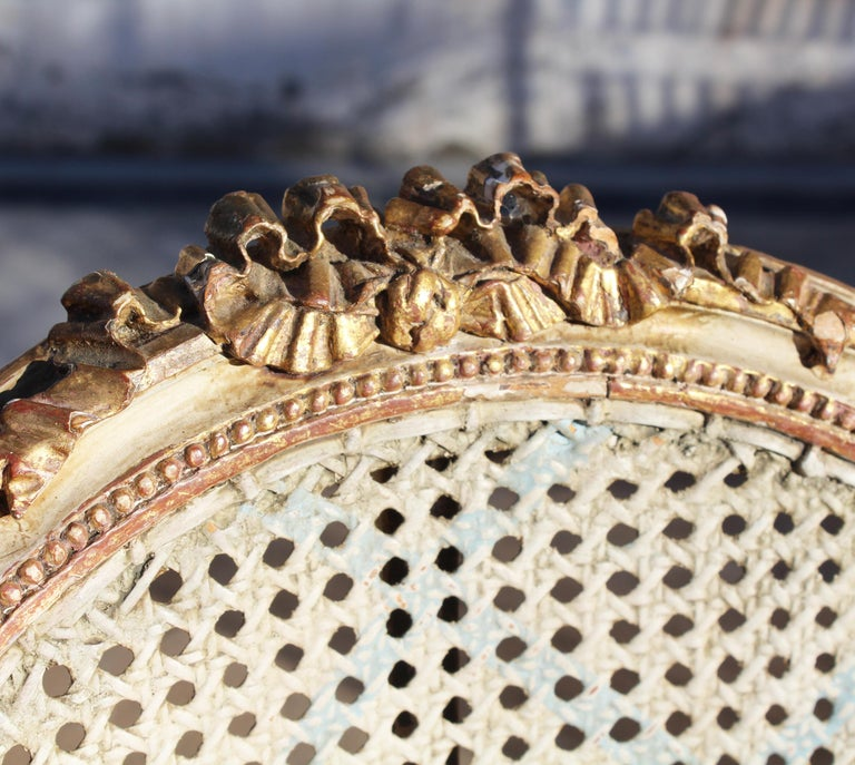 19th Century French Neoclassical Cane Back Chair For Sale 7