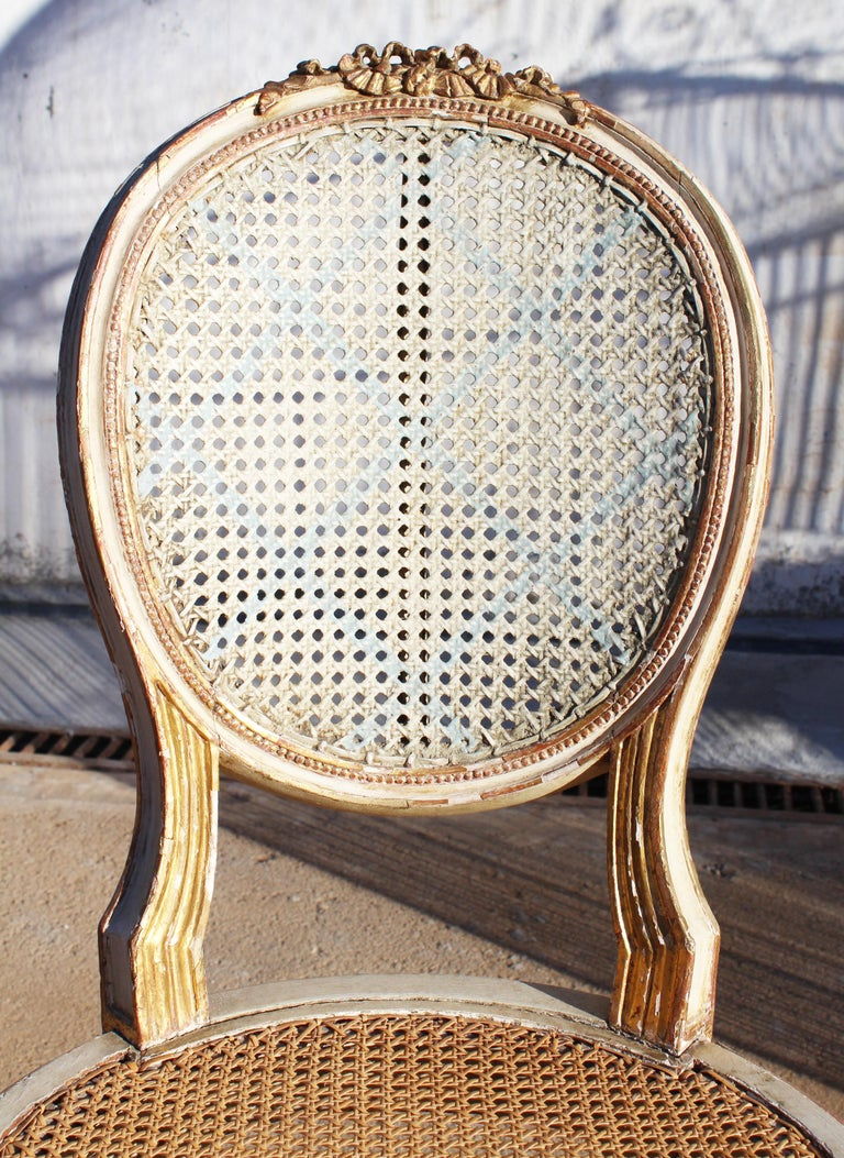 19th Century French Neoclassical Cane Back Chair For Sale 12