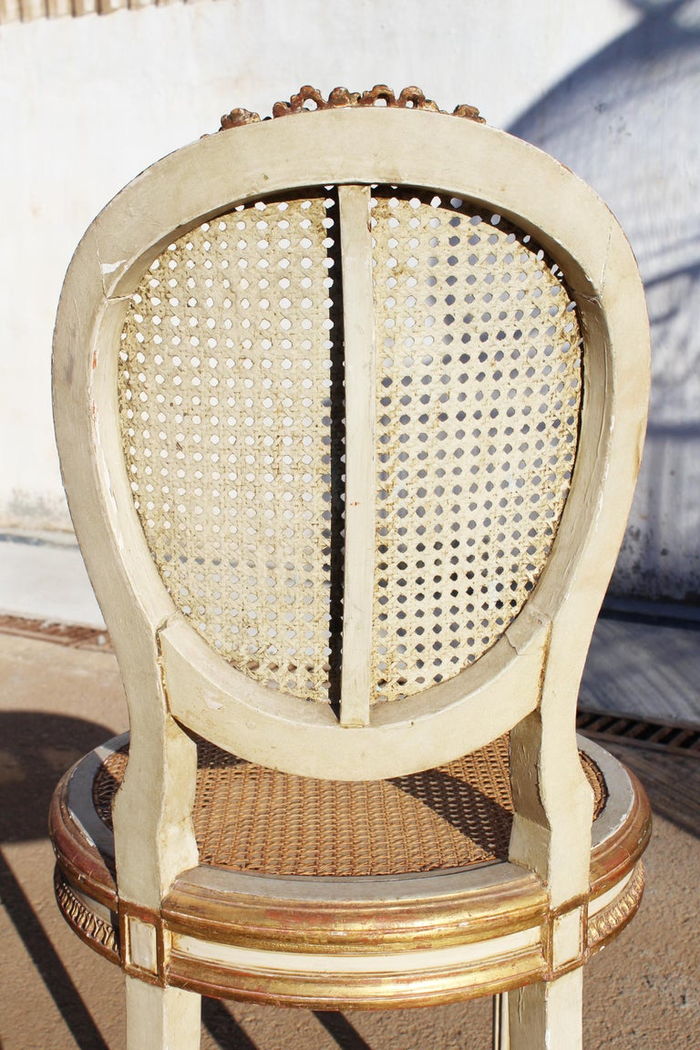 19th Century French Neoclassical Cane Back Chair For Sale 13