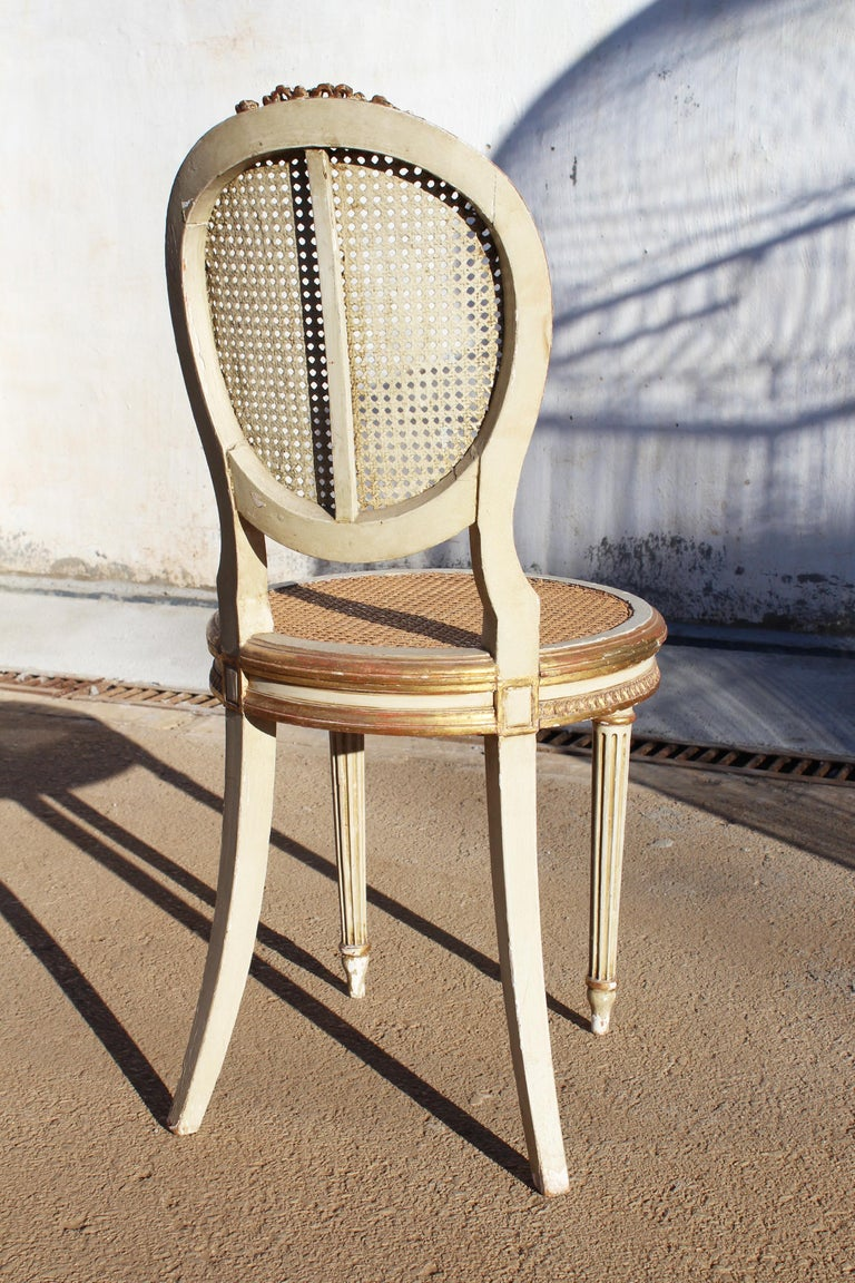 19th Century French Neoclassical Cane Back Chair For Sale 1