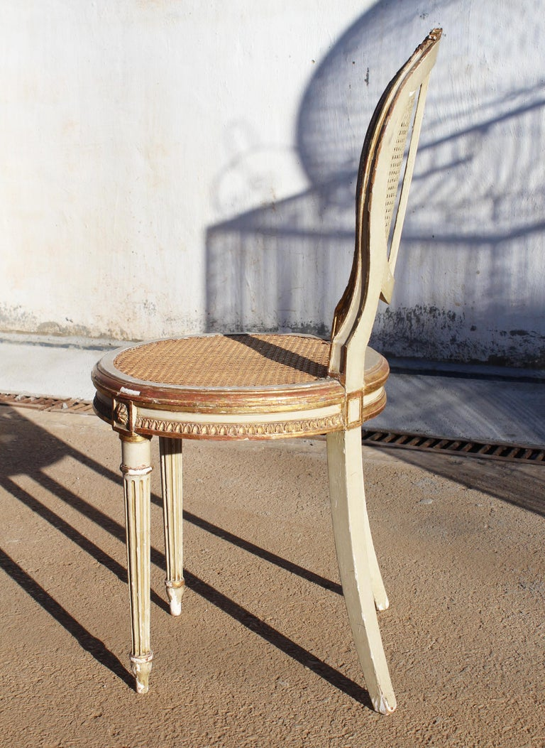 19th Century French Neoclassical Cane Back Chair For Sale 3