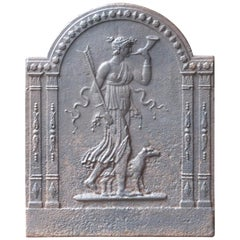19th Century French Neoclassical 'Diana' Fireback