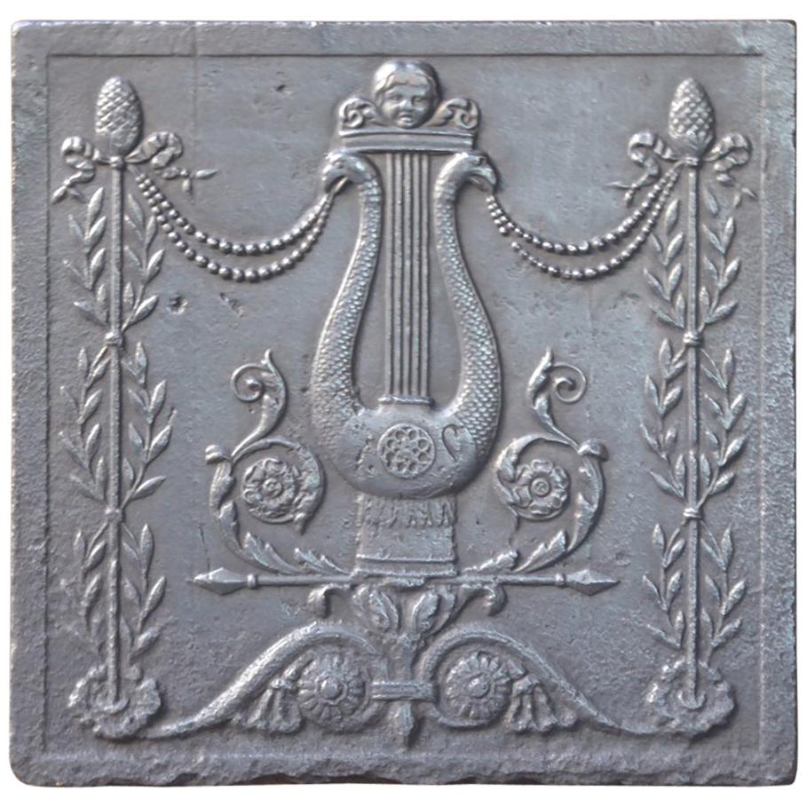 19th Century French Neoclassical Fireback