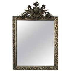 19th Century French Neoclassical Gilded Mirror with Dragons