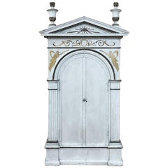 19th Century French Neoclassical Painted Tabernacle