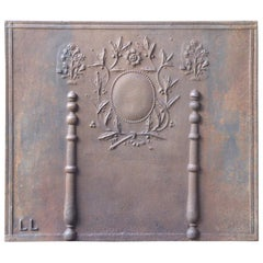 19th Century French Neoclassical 'Pillars with Decoration' Fireback